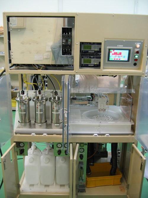 スピン洗浄・乾燥機(タッチパネル制御)